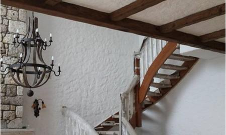 villa, konut,merdiven,masif merdiven
